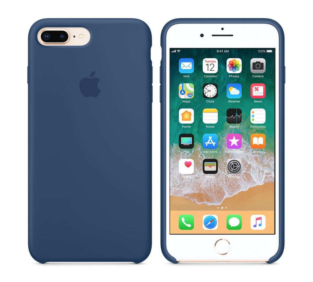 Capa de Silicone para IPhone 7 Plus Apple com Logo Oficial Lacrada