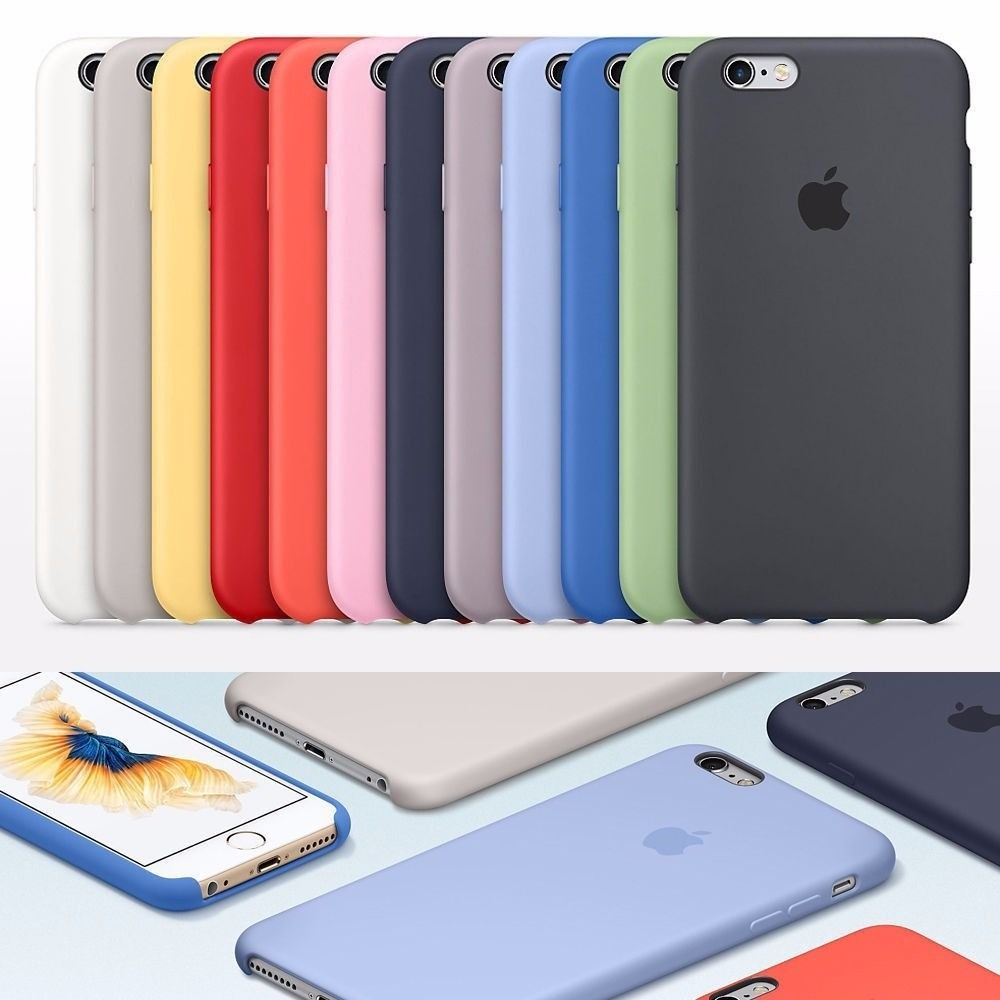 Capa de Silicone para IPhone 8 Apple com Logo Oficial - Diversas Cores