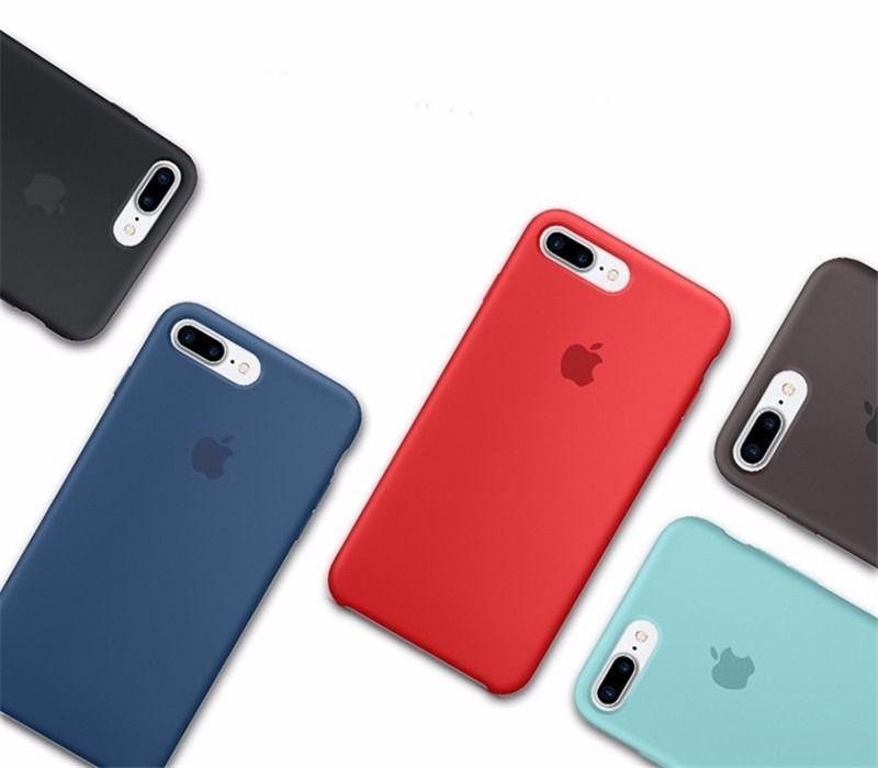 Capa de Silicone para IPhone 8 Plus Apple com Logo Oficial - Diversas Cores