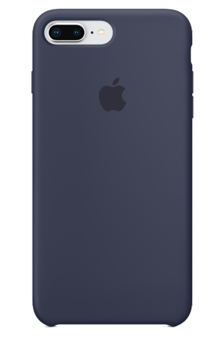 Capa de Silicone para IPhone 8 Plus 7 Plus Apple Logo Oficial - Diversas Cores