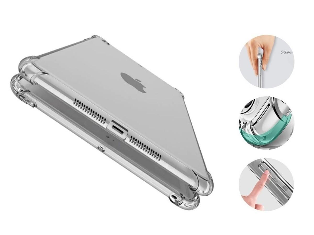 Capa iPad 6 Tela 9.7 A1893 A1954 Traseira de Silicone Borda Reforçada