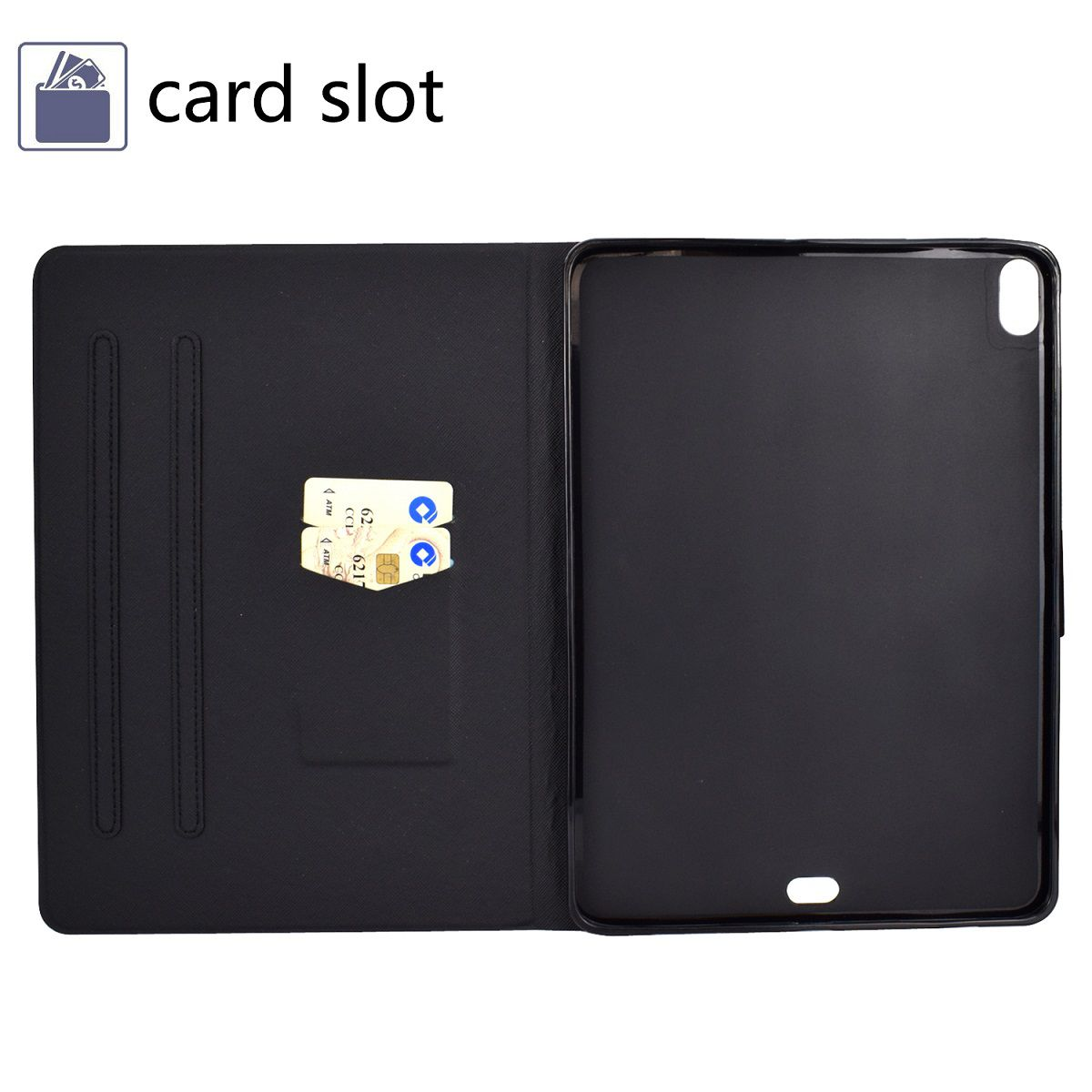 Capa Ipad 7 Tela 10.2 Ano 2019 A2197 A2198 A2199 Executiva Magnética Preta
