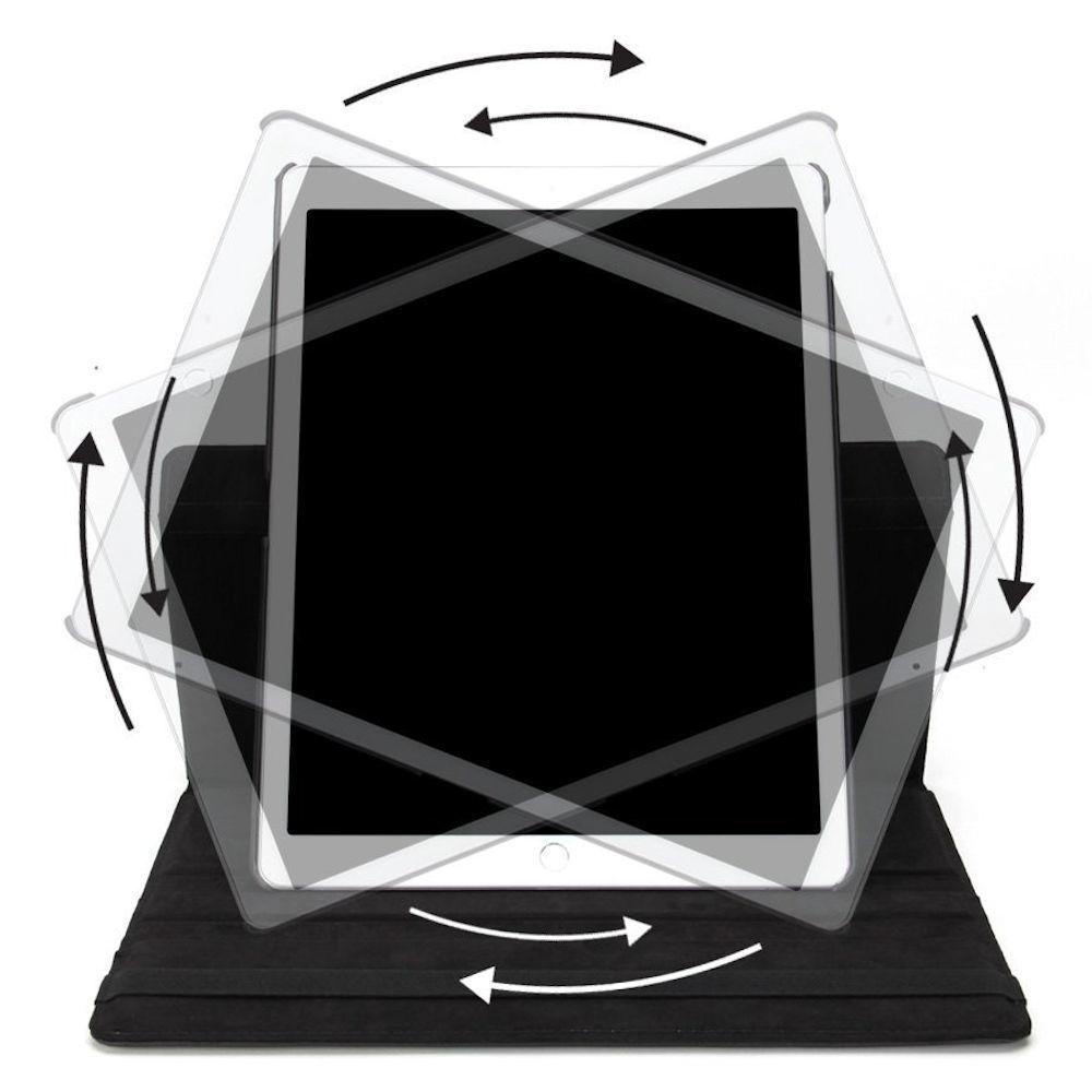 Capa Ipad 8 Tela 10.2 Ano 2020 A2270 Giratória Executiva Preta