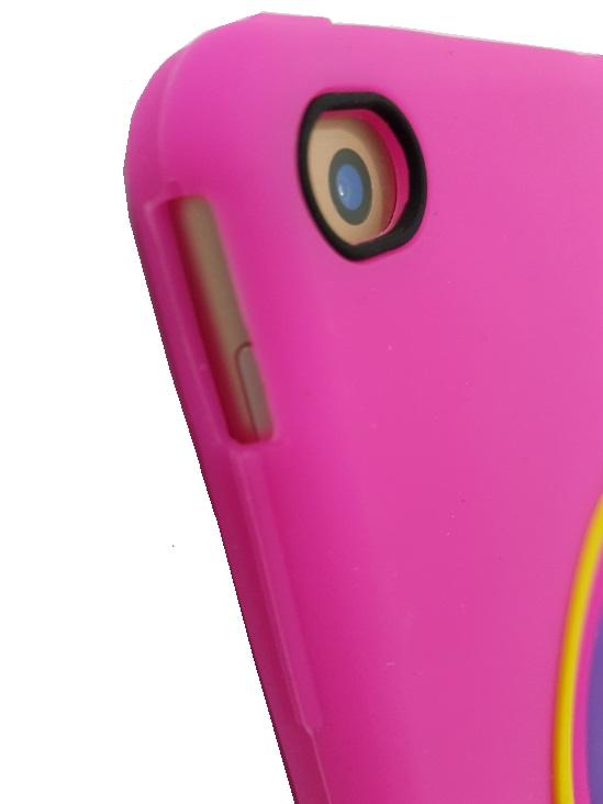Capa Ipad 9.7 Apple 6º geração 2018 A1893 - Traseira Silicone Unicórnio 3D Rosa