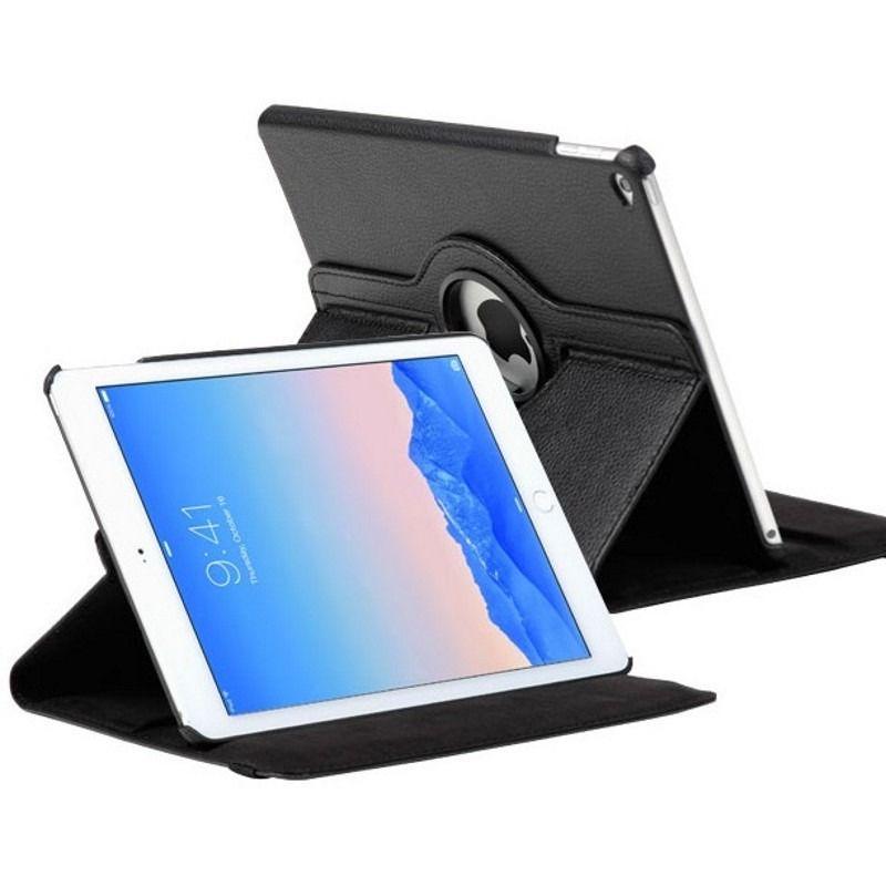 Capa Ipad Air 2 Apple A1566 A1567 A1568 Courino Giratória Preta