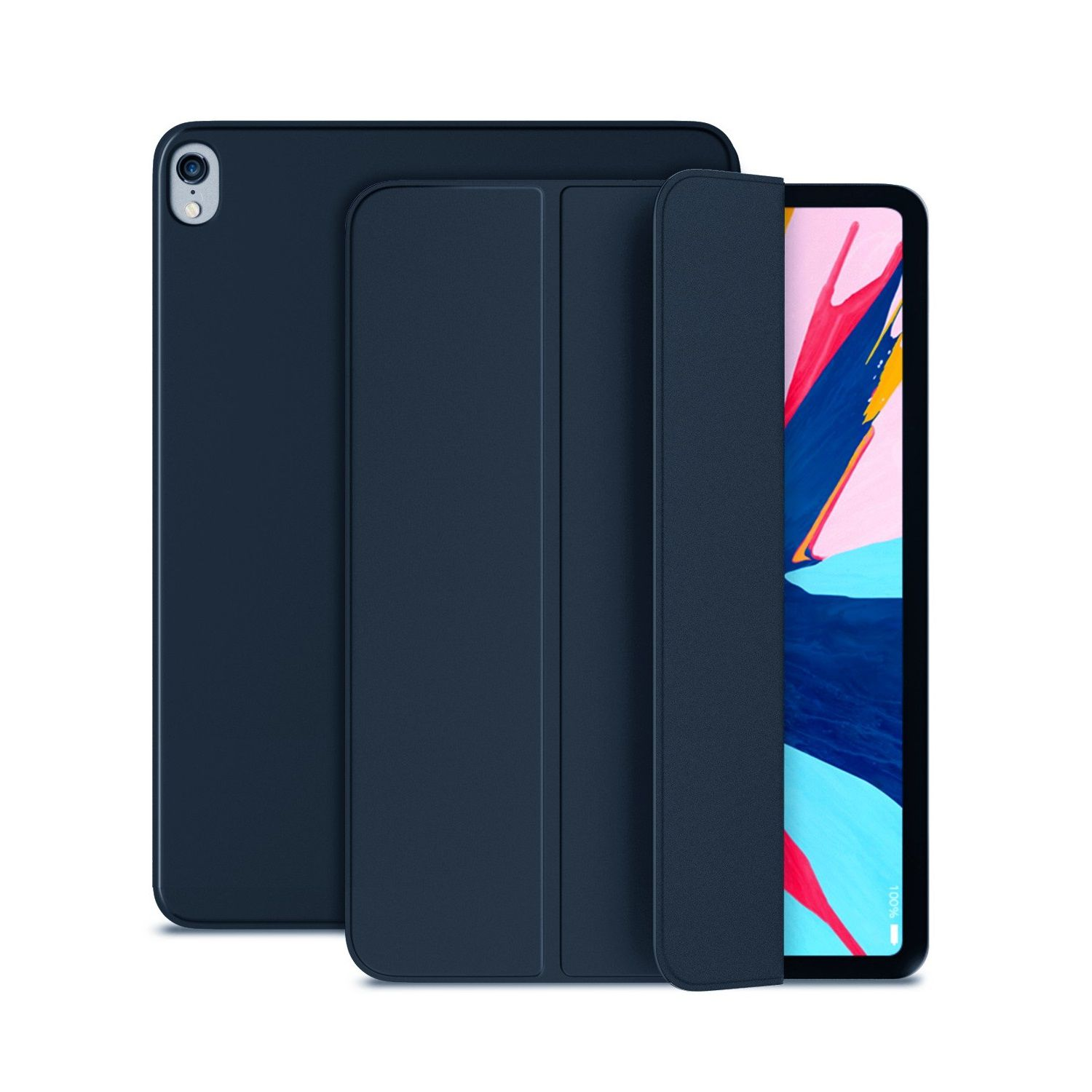 Capa Ipad Air 3 Tela 10.5 Apple 2019 Smart Case Magnética Azul A2152 A2123 A2154