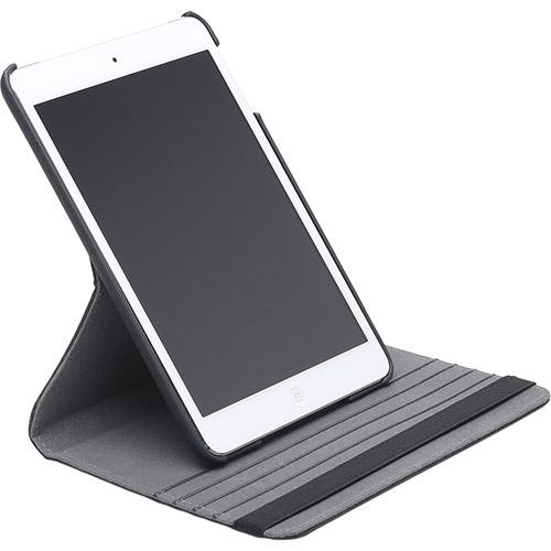 Capa Ipad Mini 1 2 3 Apple Giratória Executiva Couro Sintético Preta