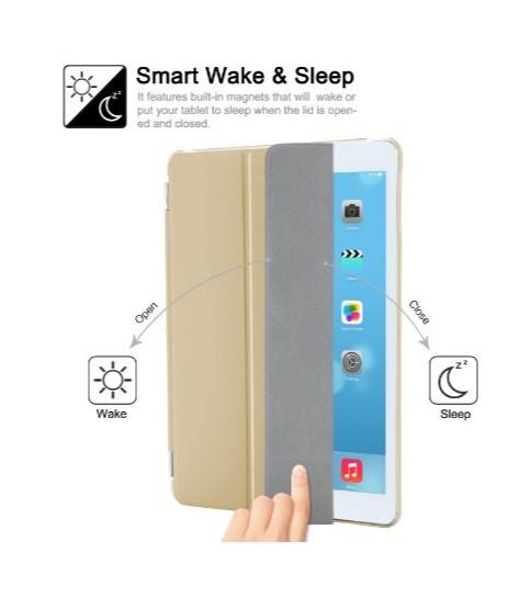 Capa Ipad Mini 1 2 3 Smart Case Dourada Frontal e Traseira Completa