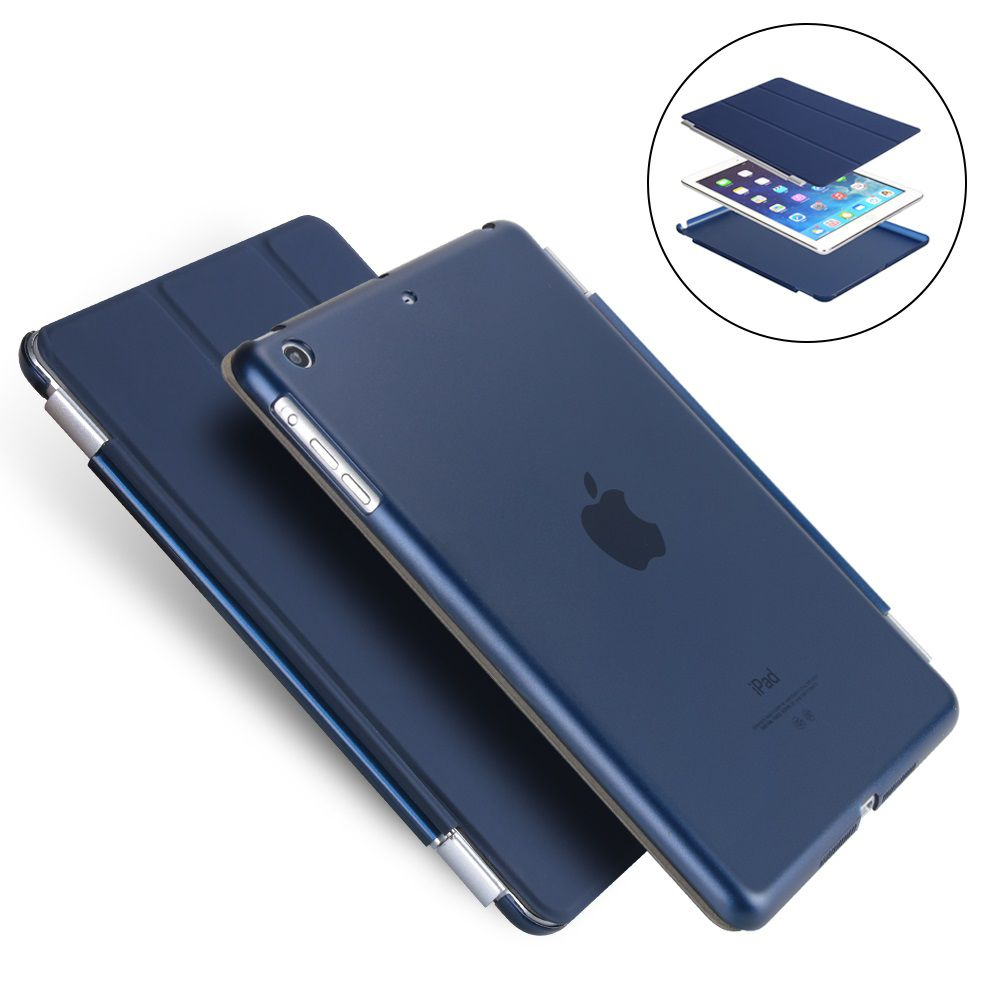 Capa Ipad Mini 1 2 3 Smart Case Frontal e Traseira Azul Marinho