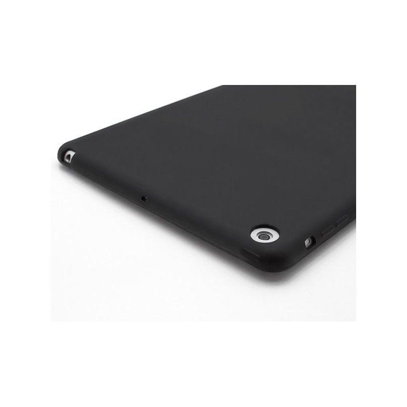 Capa Ipad Mini 1 2 3 Traseira de Silicone Preta Logo Apple