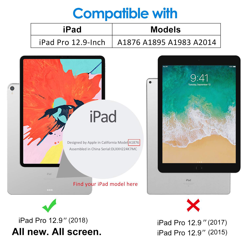 Capa Ipad Pró 12.9 2018 Apple 3º geração A1876 A1895 A1983 Smart Case Preta
