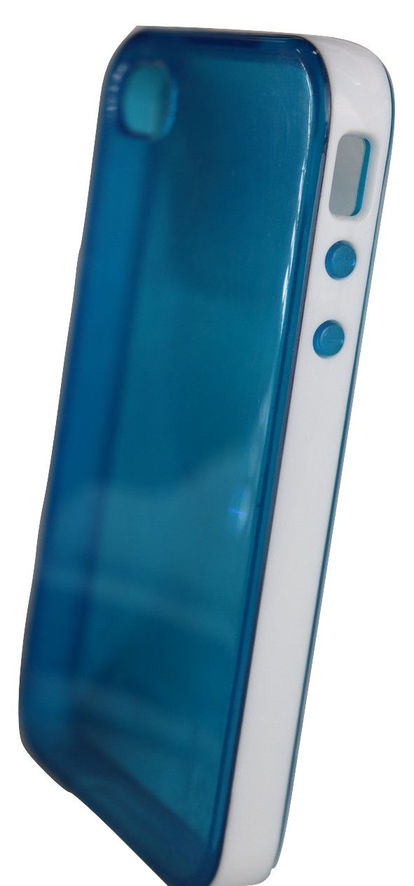 Capa Iphone 4 Apple Azul com Borda Branca 4g 4s