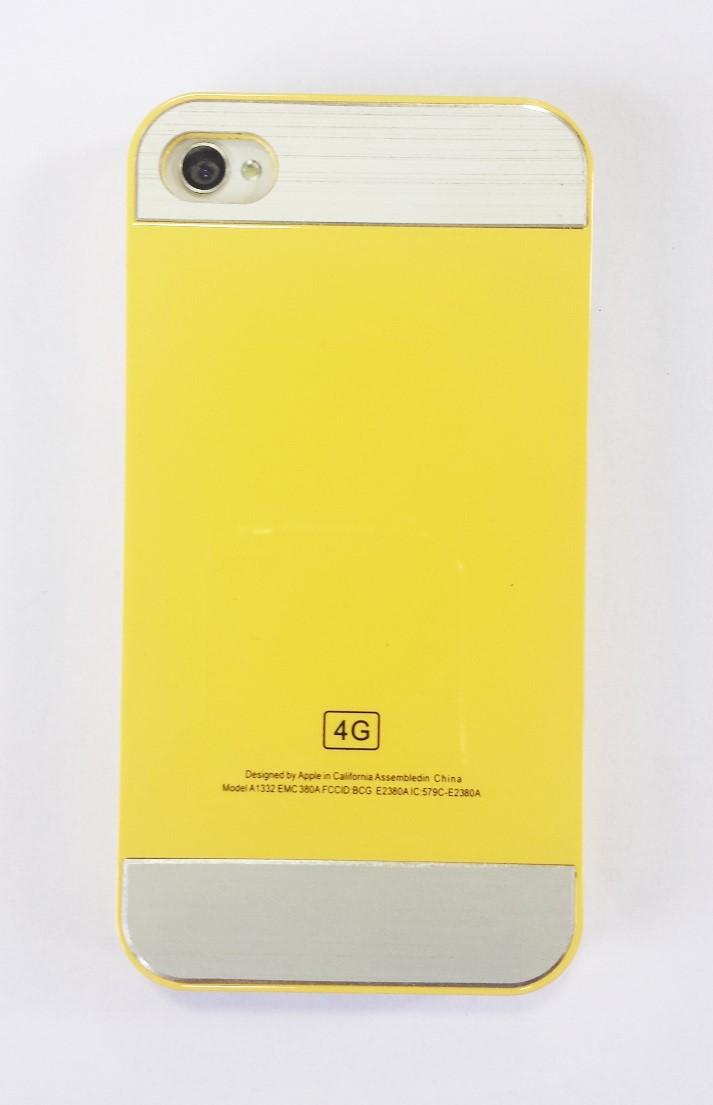 Capa Iphone 4 Apple Rígida Acrílico Amarela