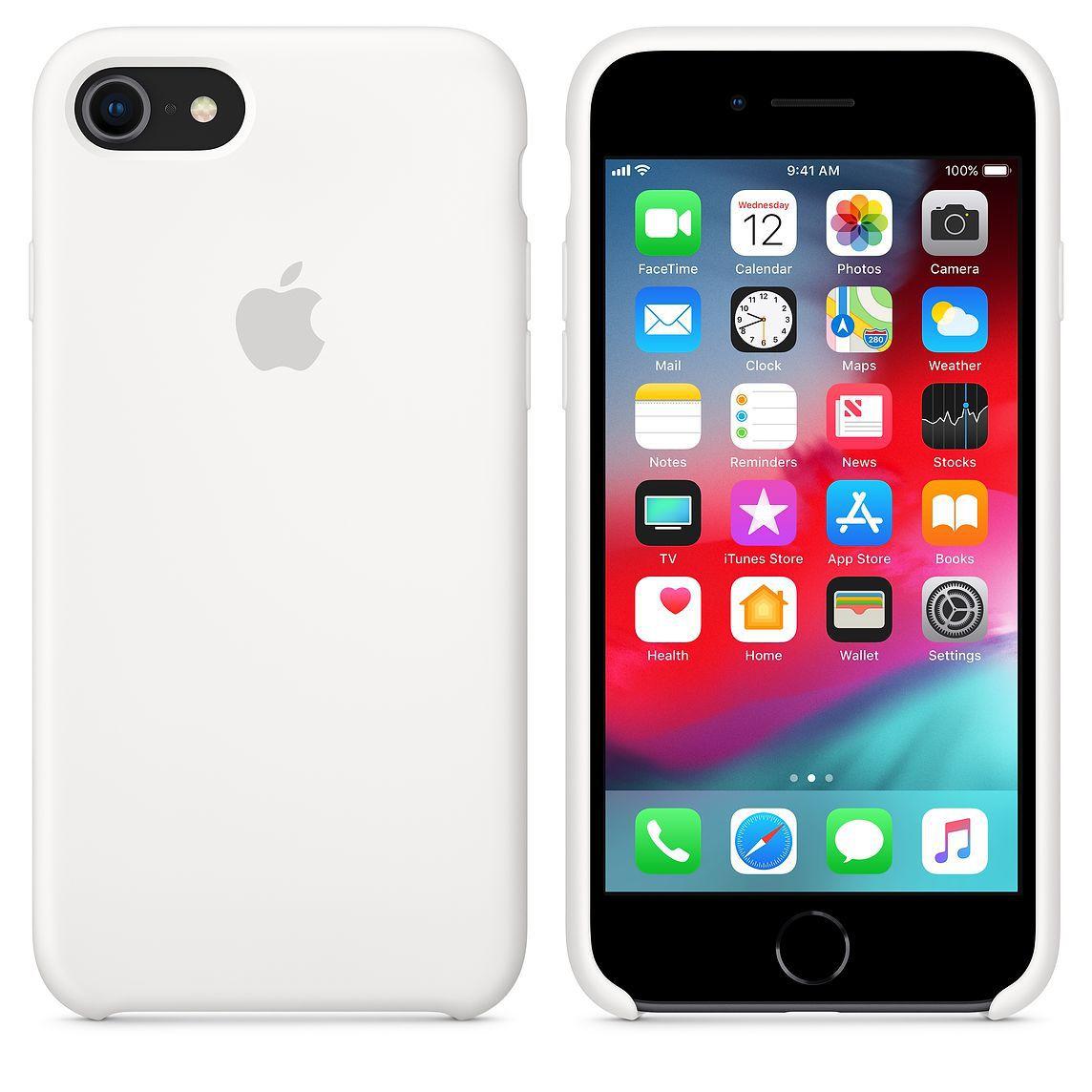 Capa Iphone 7 Apple Silicone com Logo Oficial - Diversas Cores