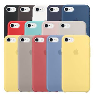Capa IPhone 8 Apple Silicone com Logo Oficial - Diversas Cores