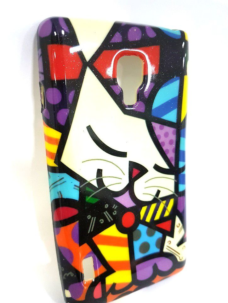 Capa Lg Optimus L7 2 P714 Flexível Romero Britto
