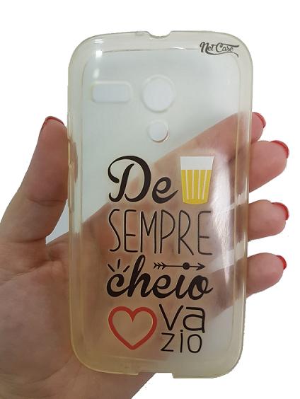 Capa Motorola Moto G Personalizada Cerveja Copo Cheio Coração Vazio 1º Geração Xt1032 Xt1033