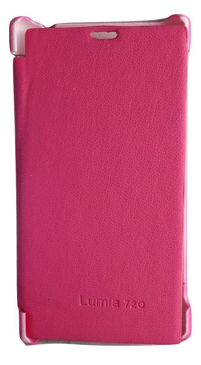 Capa Nokia Lumia n720 Flip Cover Case Rosa