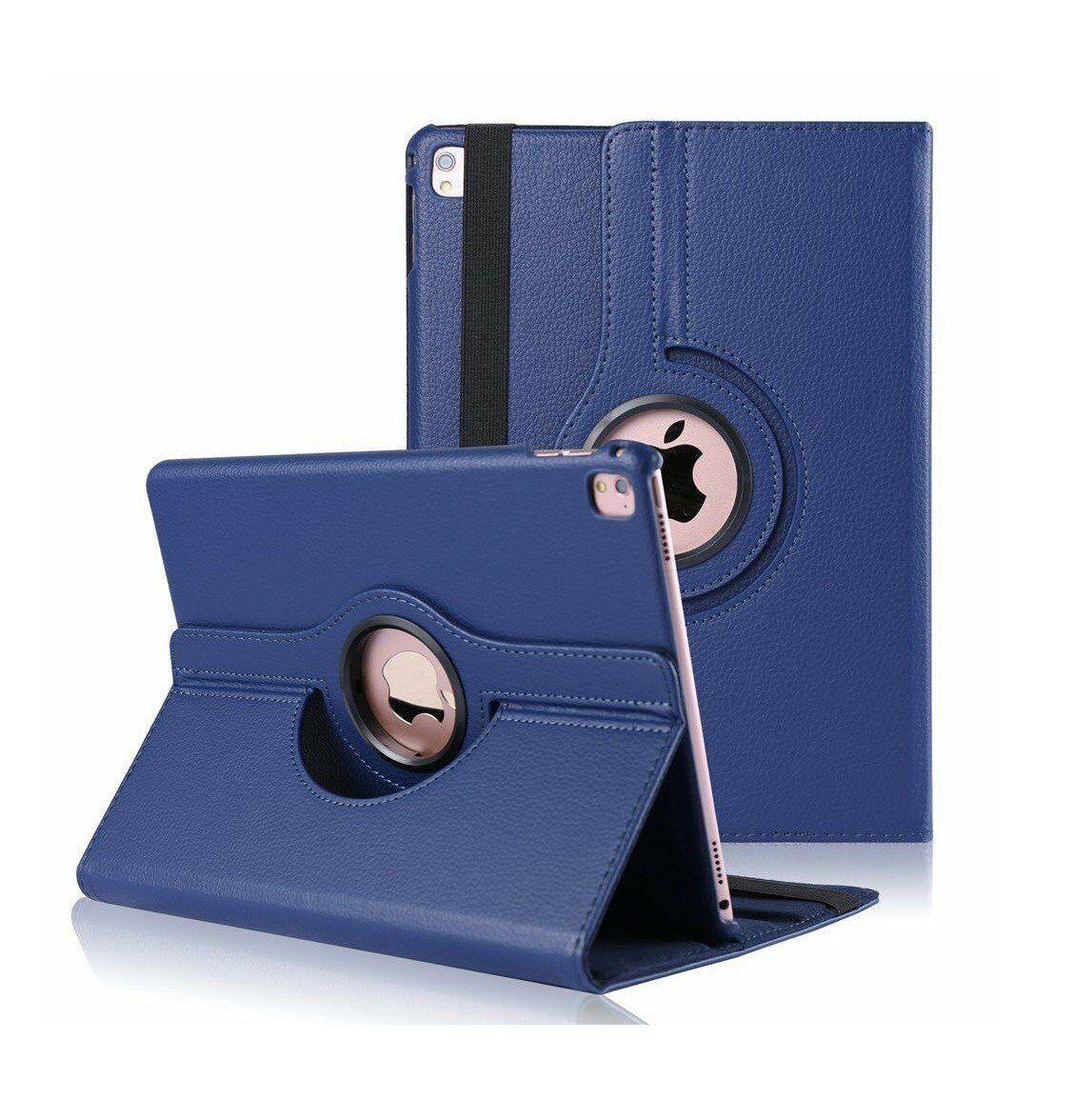 Capa para Ipad Pró 12.9 Apple 3º geração A1876 Couro Sintético Giratória Azul Marinho