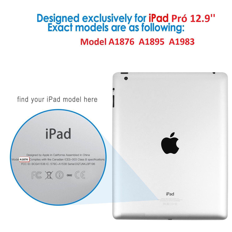 Capa para Ipad Pró 12.9 Apple 2018 A1876 Couro Sintético Magnética