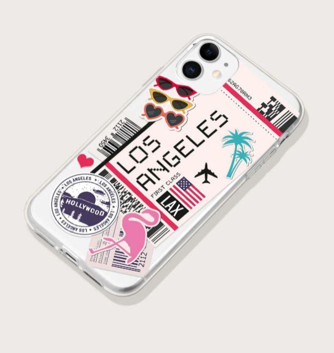 Capa para Iphone 11 Pro Ticket de Viagem Los Angeles