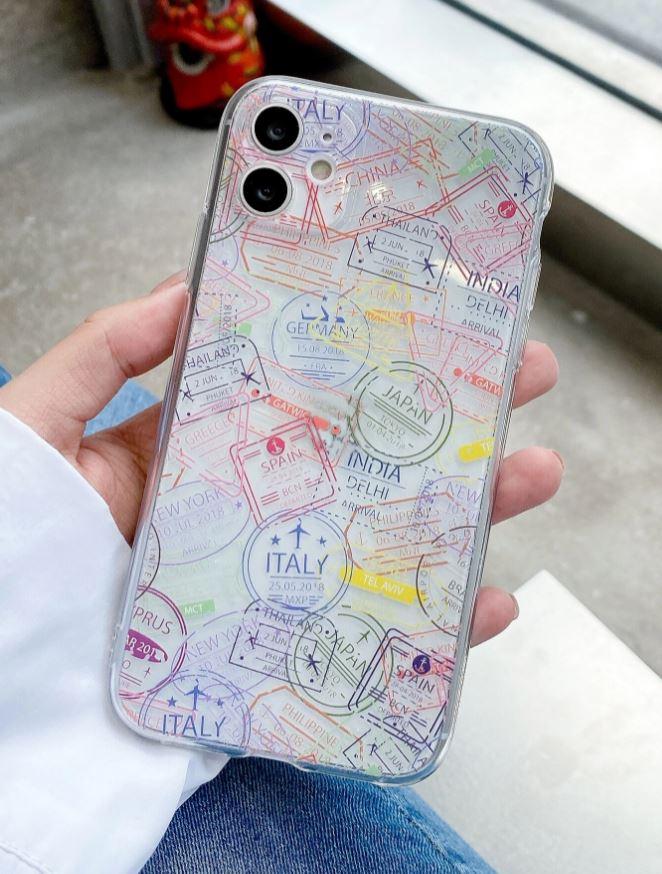 Capa para Iphone 12 Pro Max Selos de Viagem Passaporte