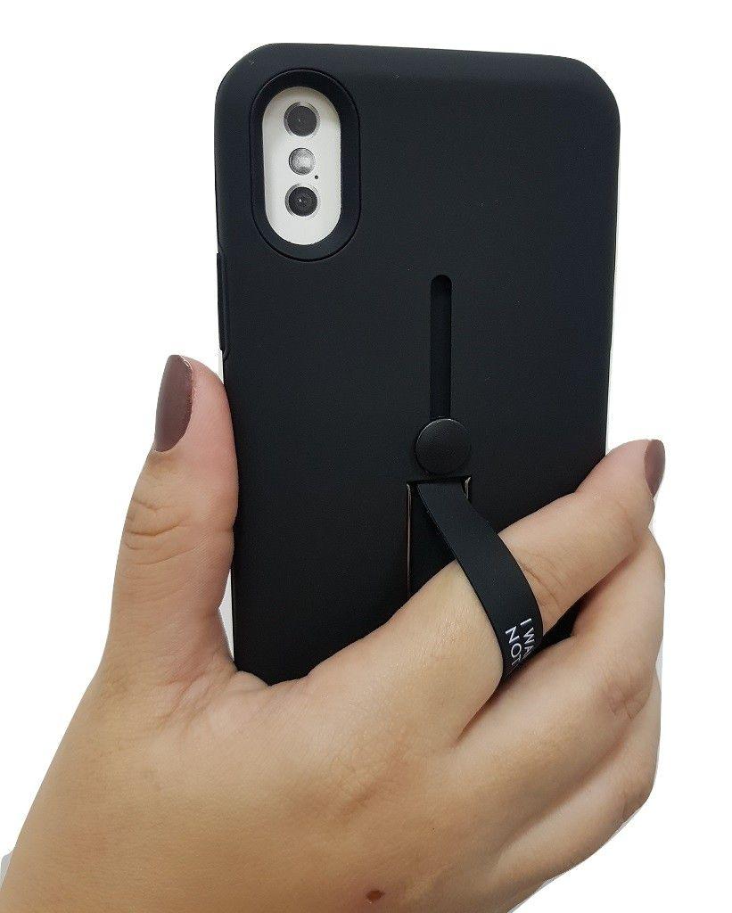 Capa para iPhone X Xs Apple Anti Impacto com Suporte Dedo