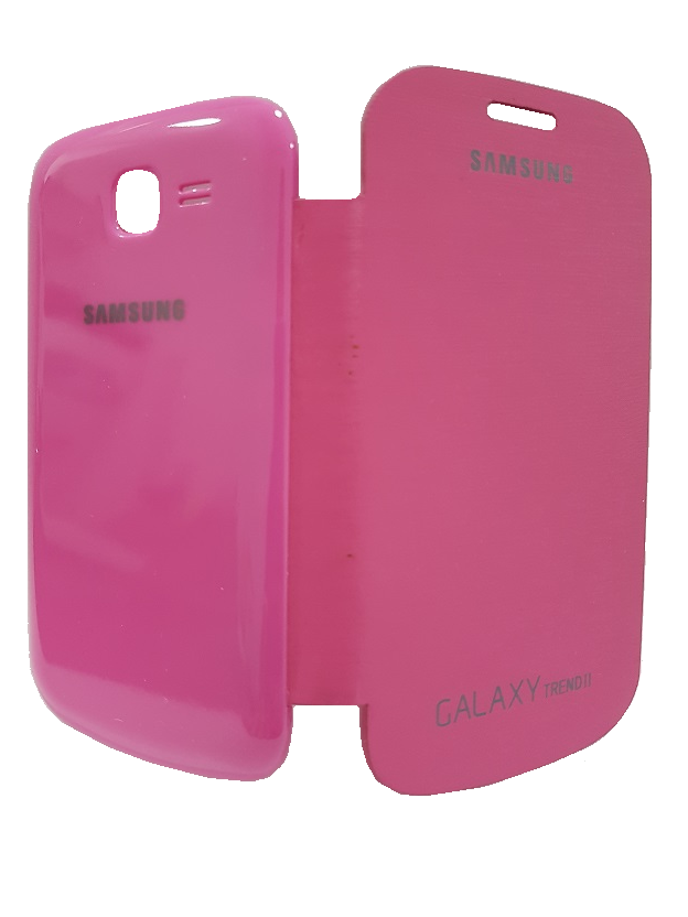 Capa para Samsung Galaxy Trend II s7572 Flip Cover Rosa