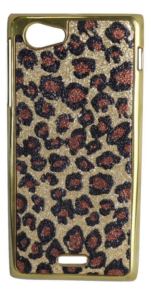 Capa para Smartphone Sony Xperia J ST26a Onçinha Dourada