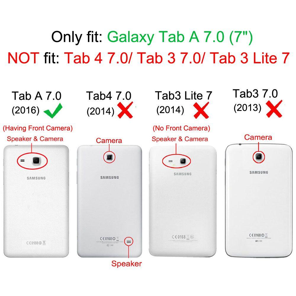 Capa para Tablet Samsung Galaxy Tab A 7.0 T280 T285 Traseira Silicone Unicórnio Fundo Preto