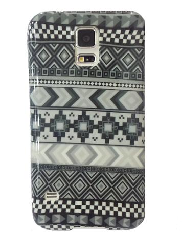 Capa Samsung Galaxy S5 Flexível Estilizada Étnica Tribal Asteca