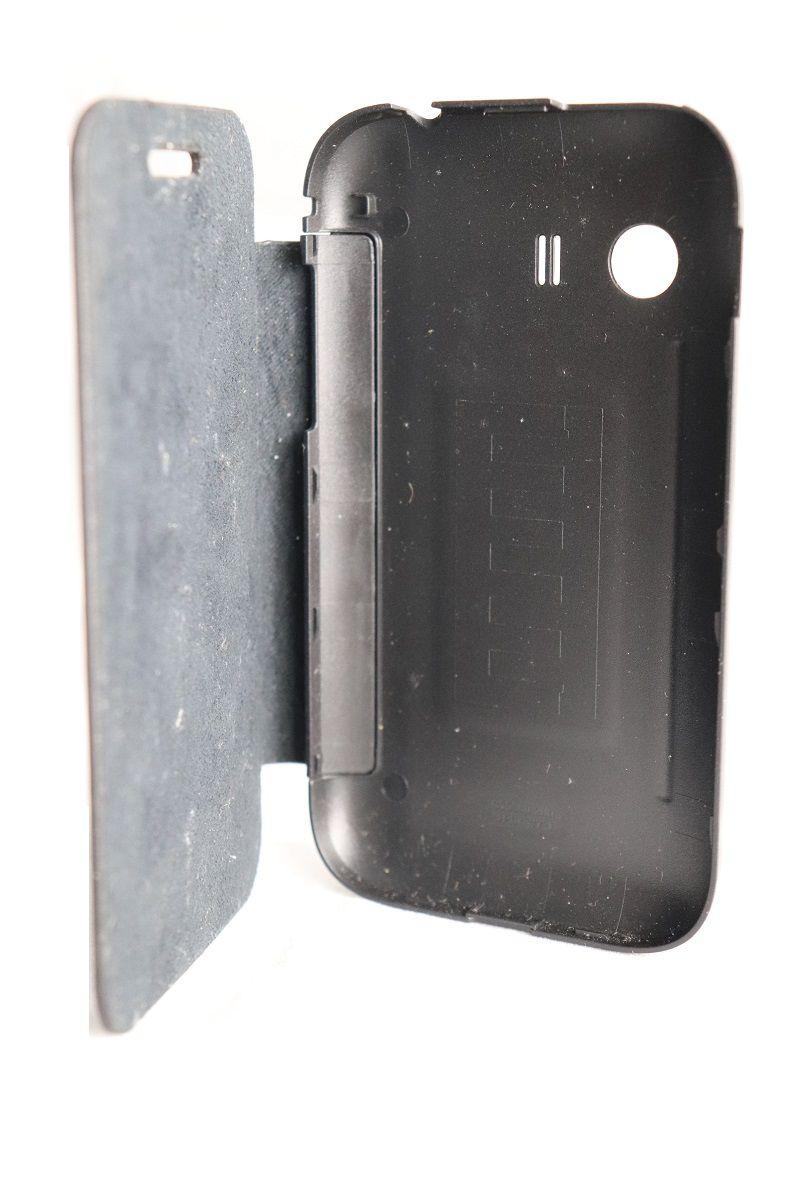 Capa Samsung Galaxy Y Flip Cover Case Preto s5360