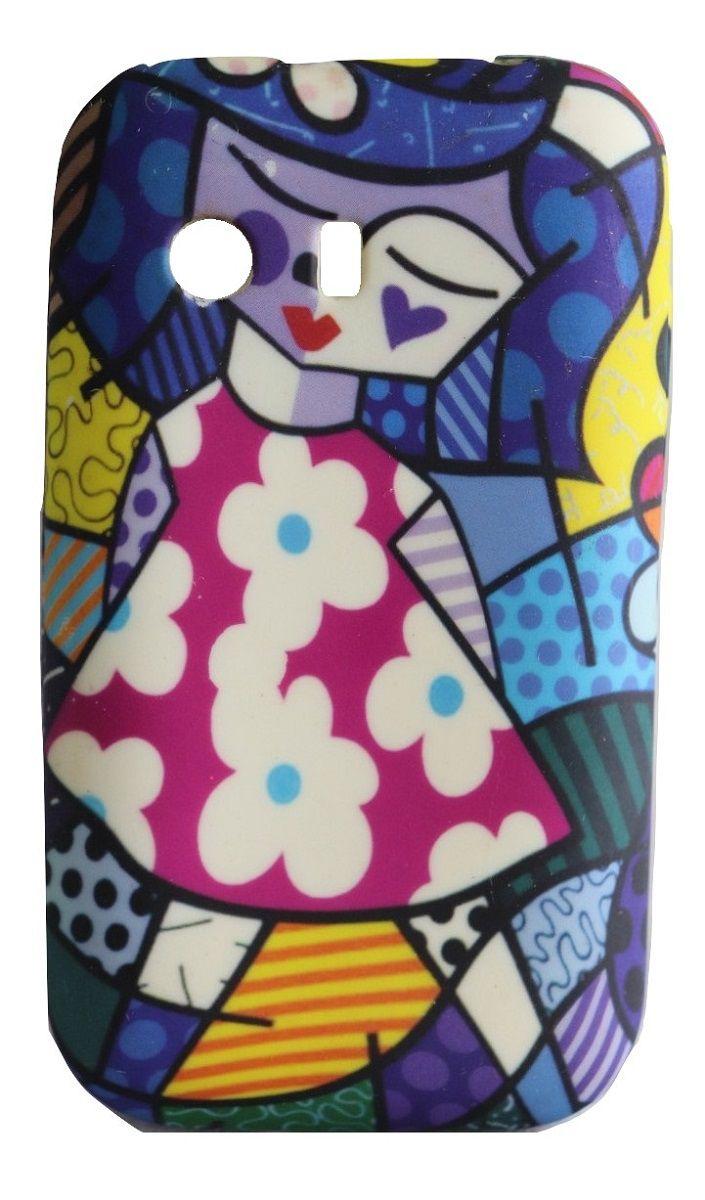Capa Samsung Galaxy Y s5360 Flexível Romero Britto
