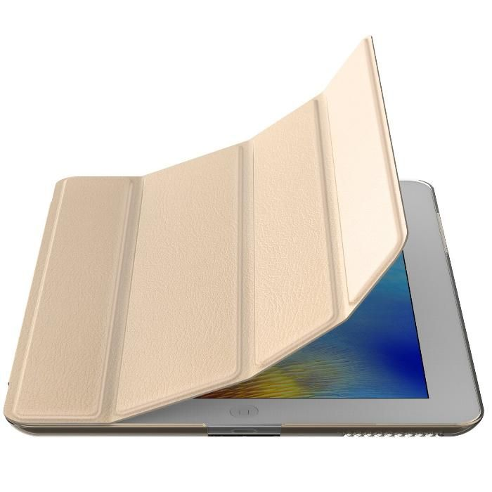 Smart Case Ipad 2 3 4 Apple Sensor Sleep Poliuretano Dourada
