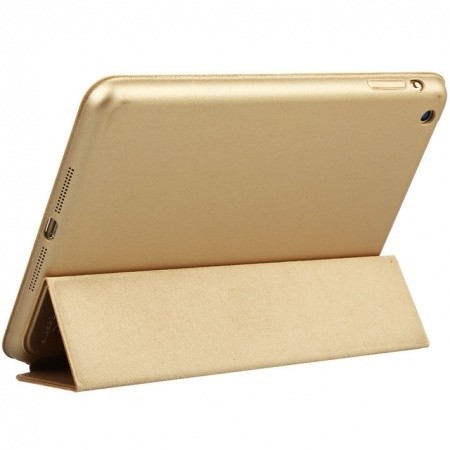 Capa Smart Case Premium Ipad Air 2 Apple Dourada Sensor Sleep
