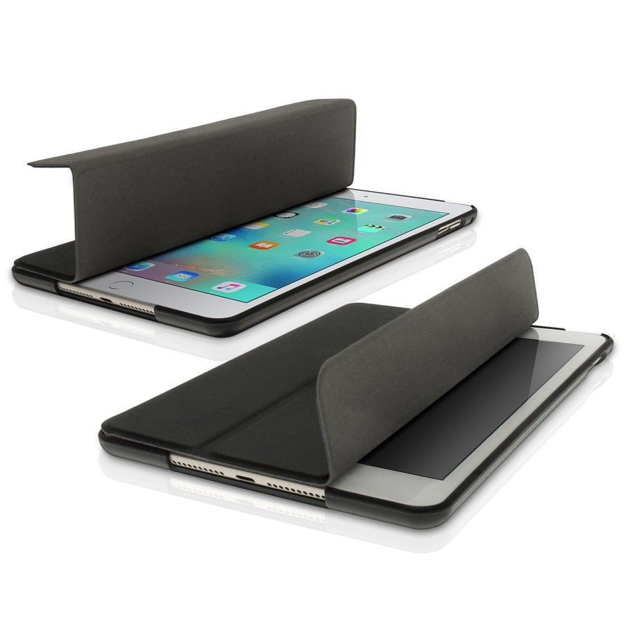 Smart Case Ipad Mini 4 Apple Sensor Sleep Poliuretano Preta