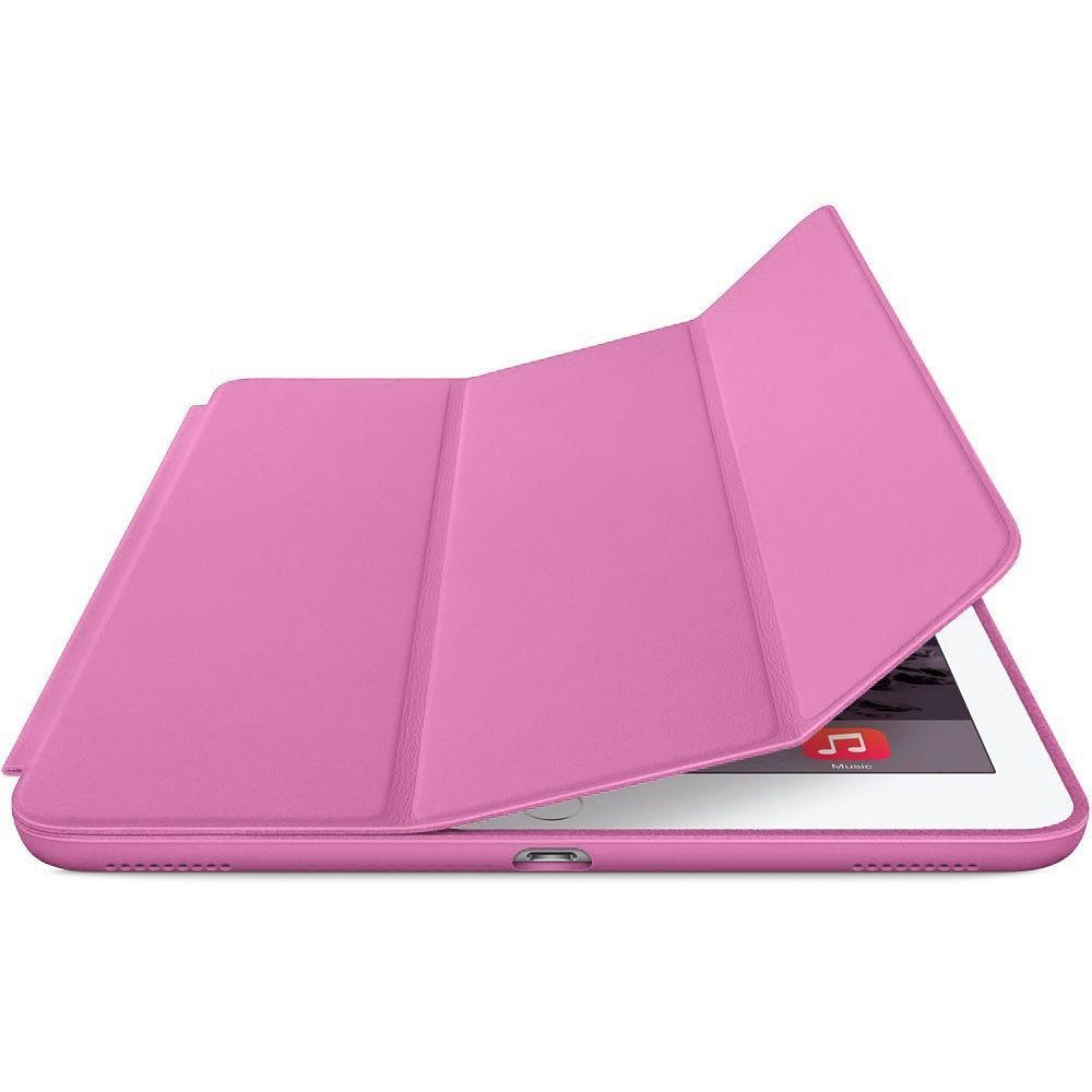 Smart Case Novo Ipad 9.7 Apple A1822 A1823 Função Sleep Poliuretano Rosa