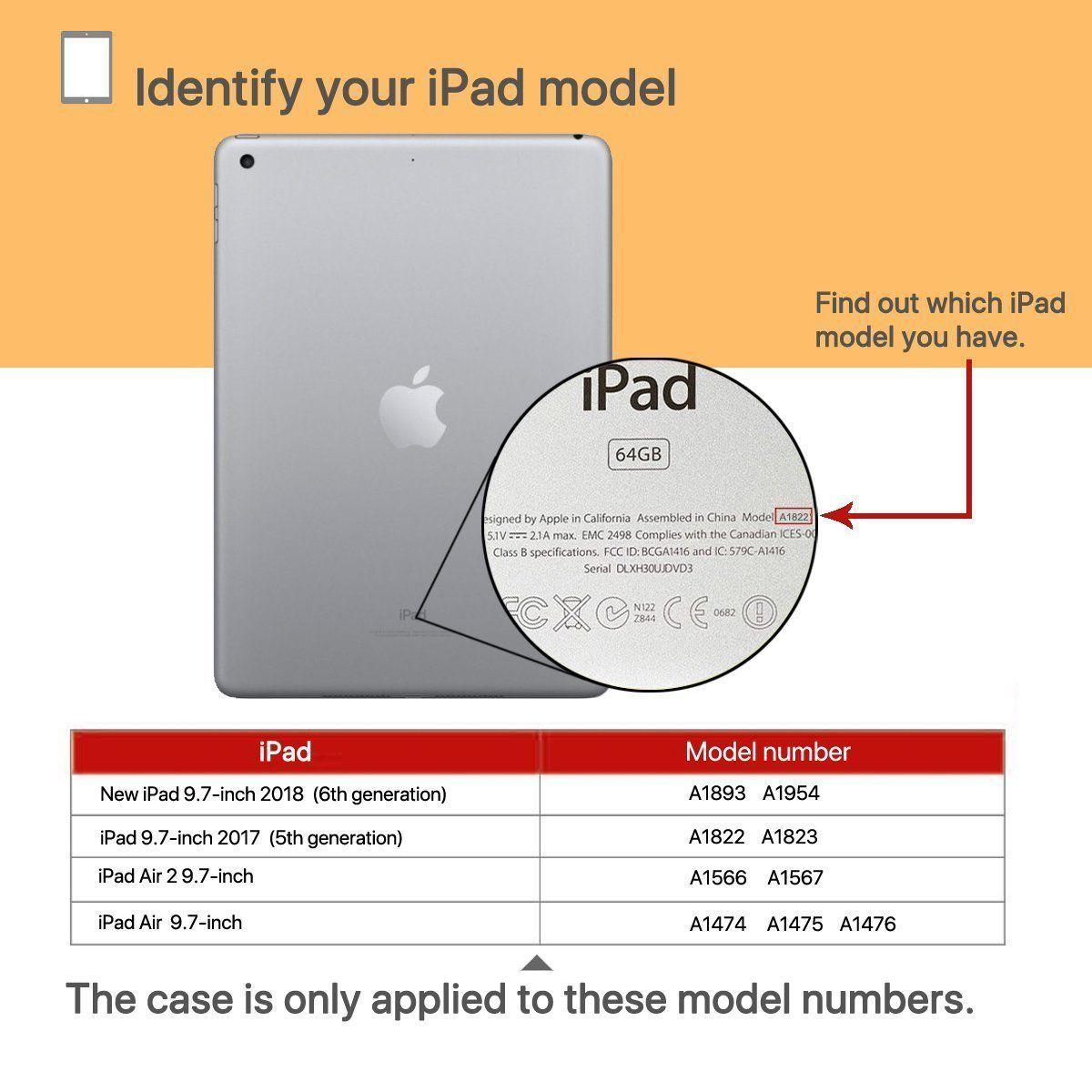 Capa Smart Case Ipad 9.7 2017 Apple A1822 A1823 Sensor Sleep Completa