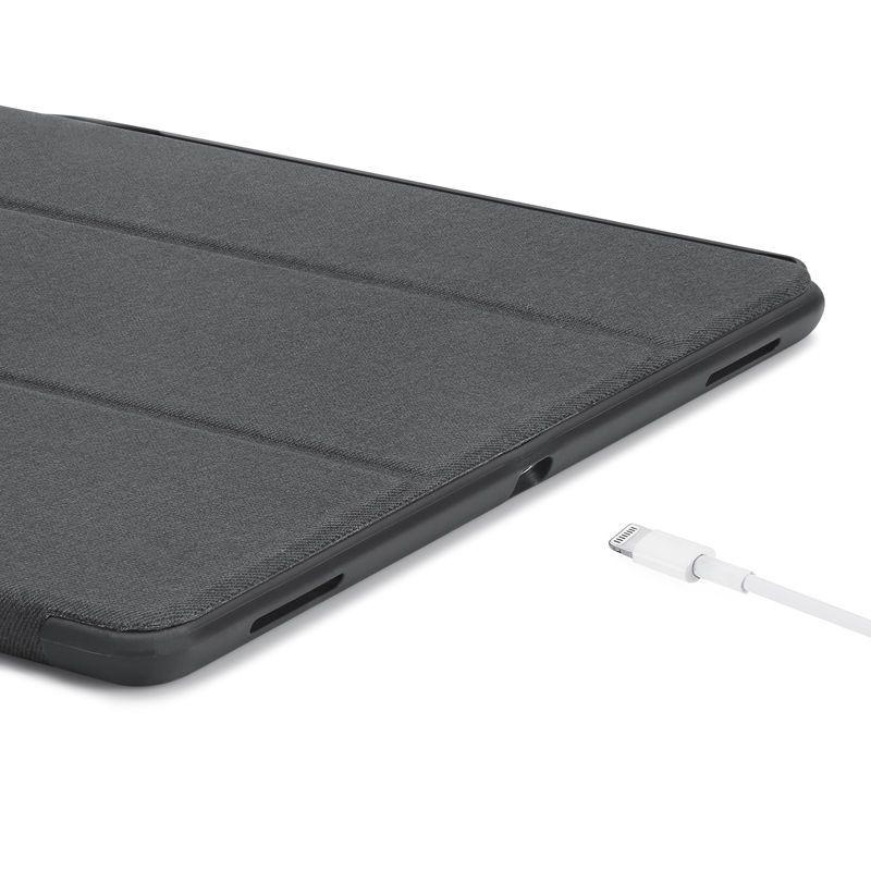Smart Case Ipad Pró 12.9 Apple 2017 A1670 A1671 Sensor Preta