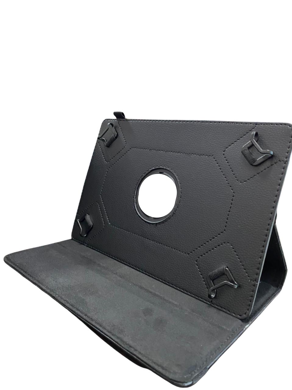 Capa Tablet 10.1 Encaixe Ajustável Giratória Rotação Preta p/ Diversos Modelos
