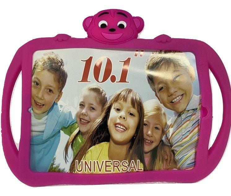 Capa Tablet 10.1 Universal Infantil Silicone Apoio Bichinho