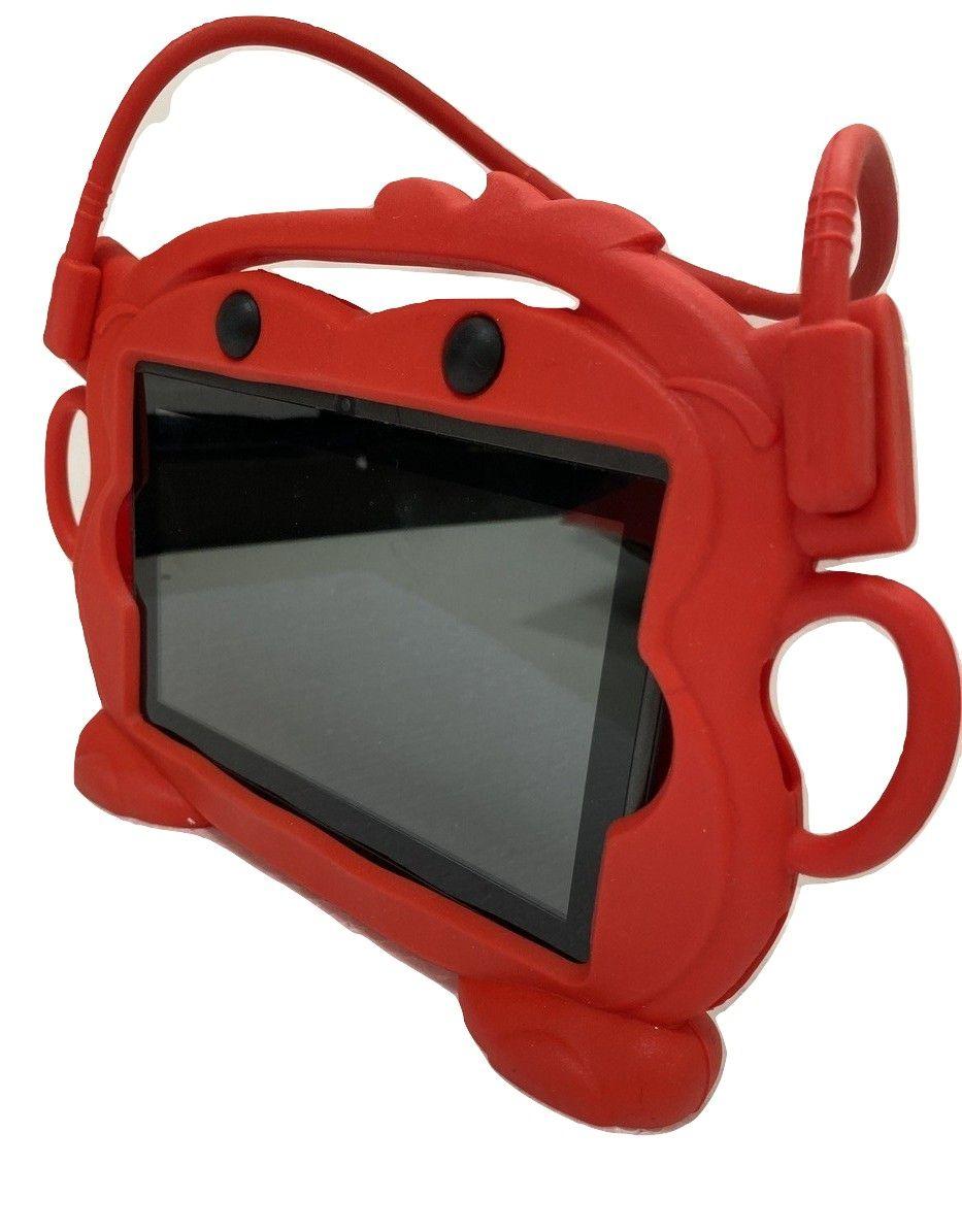 Capa Tablet 7 Suporte Veicular Universal Encosto Carro Infantil Bichinho Vermelho