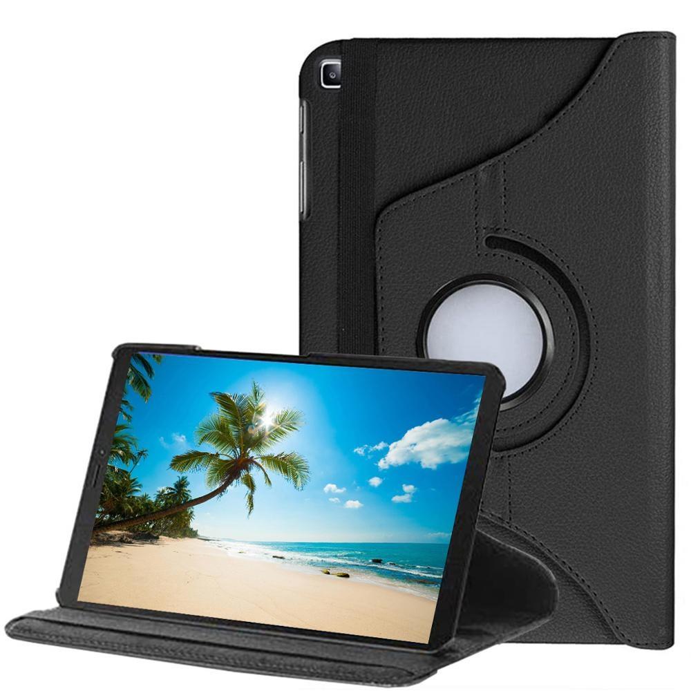 Capa Tablet Samsung A7 Lite 8.7 Polegadas T220 T225 Giratória Preta