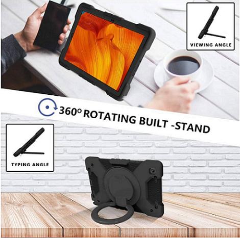 Capa Tablet Samsung Galaxy Tab A7 10.4 T500 T505 Armadura c/ Apoio Preta