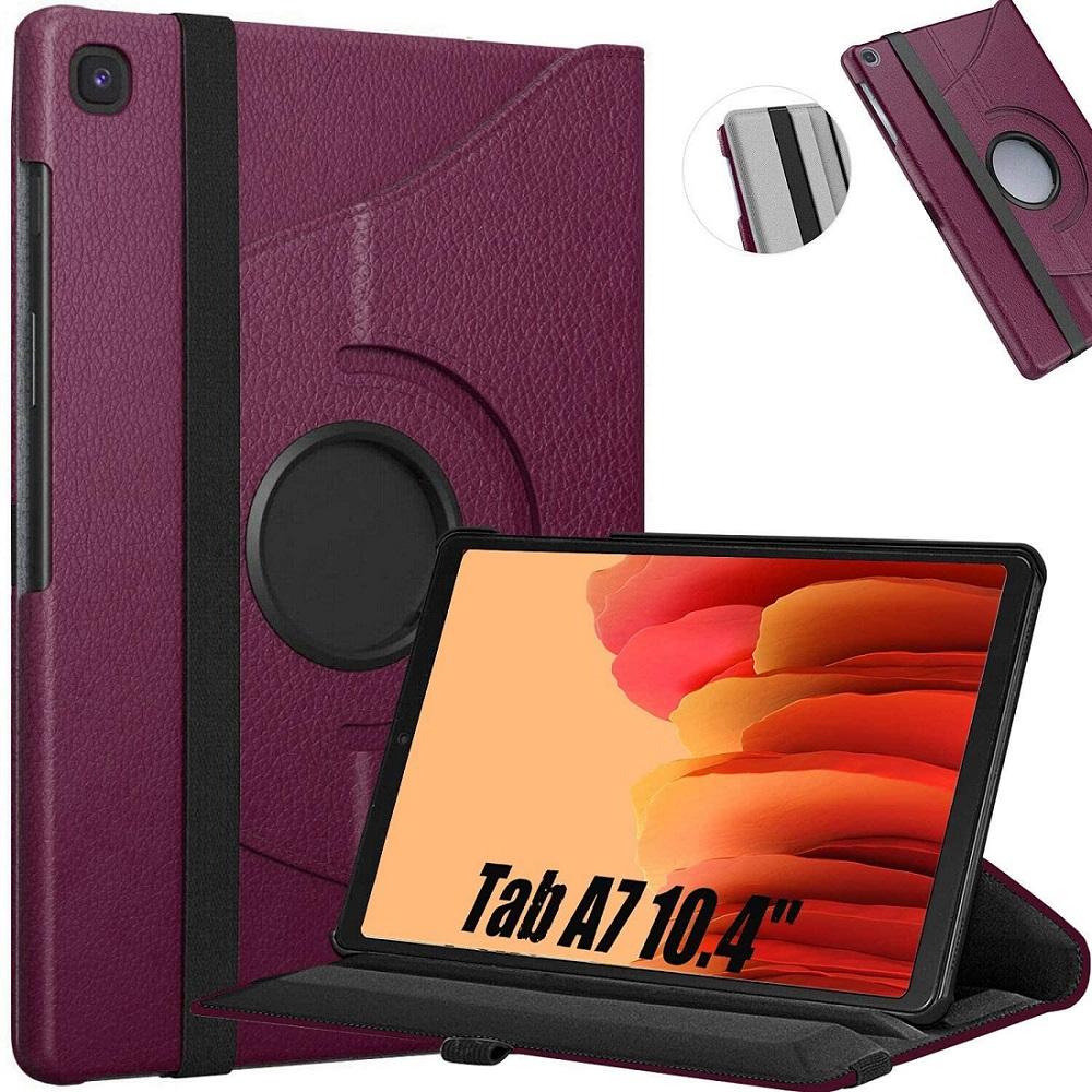 Capa Tablet Samsung Galaxy Tab A7 10.4 T500 T505 Giratória Executiva Rotação Roxo