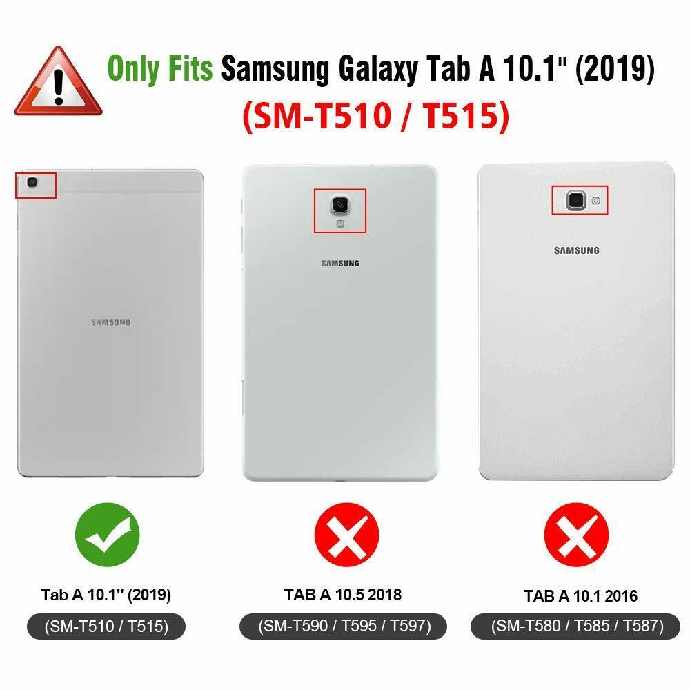 Capa Tablet Samsung Galaxy Tab A 10.1 T510 T515 Giratória Rotativa Vermelha