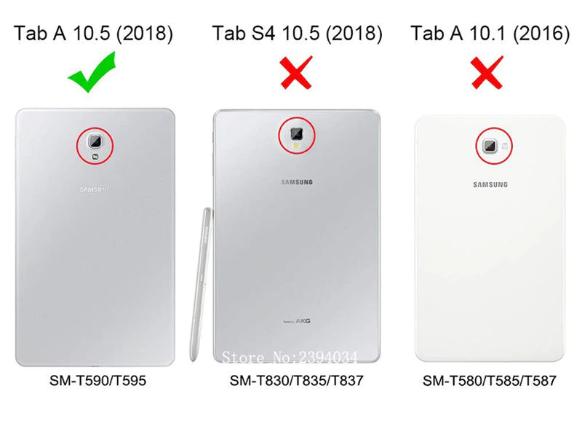 Capa Tablet Samsung Galaxy Tab A 10.5 SM-T595 T590 P597 2018 Pasta Magnética