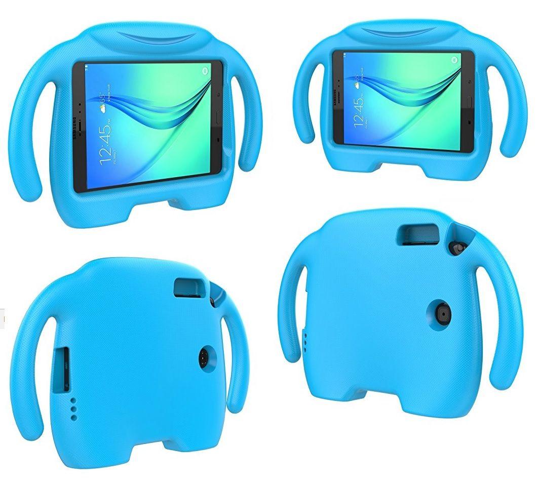Capa Tablet Samsung Galaxy Tab A 8.0 T350 T355 P355 Anti Choque Infantil Braçinhos Azul