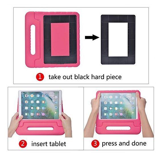 Capa Tablet Samsung Galaxy Tab A 8.0 2015 T350 T355 P355 Anti Choque Maleta Alça