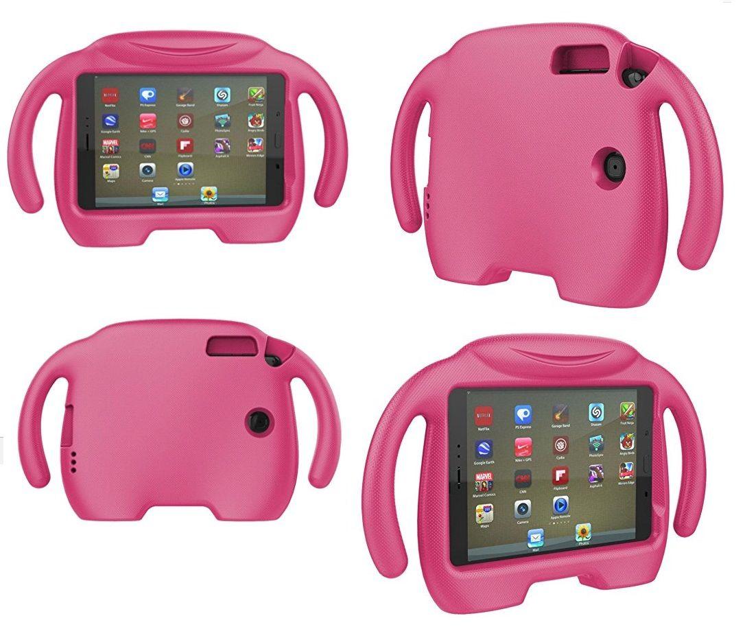 Capa Tablet Samsung Galaxy Tab A 8.0 T350 T355 P355 Anti Choque Infantil Braçinhos Rosa